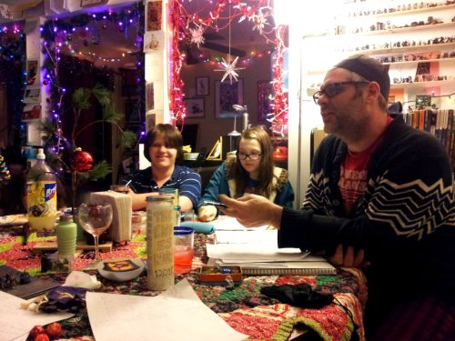 holiday cheer around the gaming table