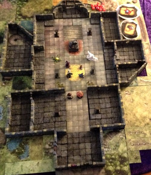 The Temple of Elemental Evil using Dwarven Forge Game Tiles (plus extras)