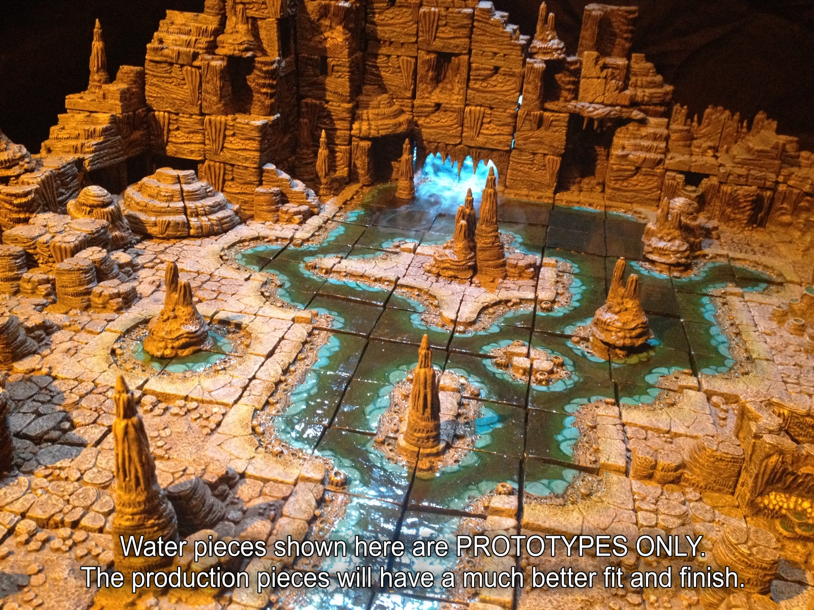 Dwarven Forge Cavern Kickstarter In Its Final Wek